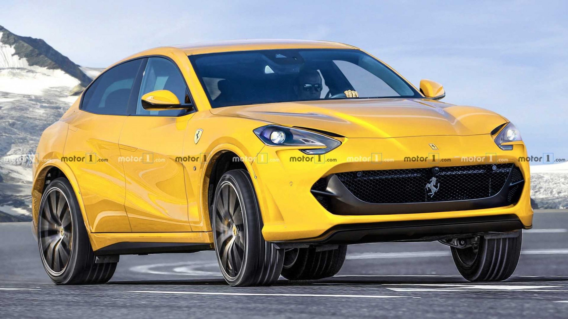 Ferrari Purosangue SUV Rendered To Take On Lamborghini Urus - ferrari suv 2020