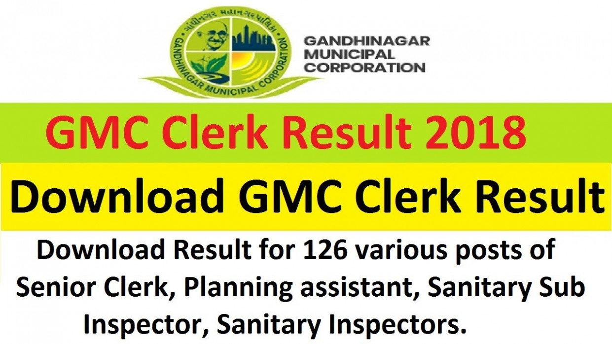 Gandhinagar Municipal Corporation Clerk Result 6 GMC Merit Cut Off - gmc clerk result 2020