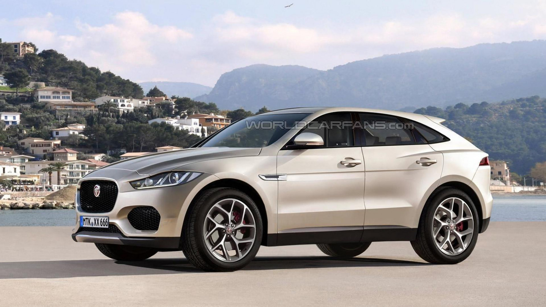 Jaguar E-Pace speculatively rendered, coming before 8