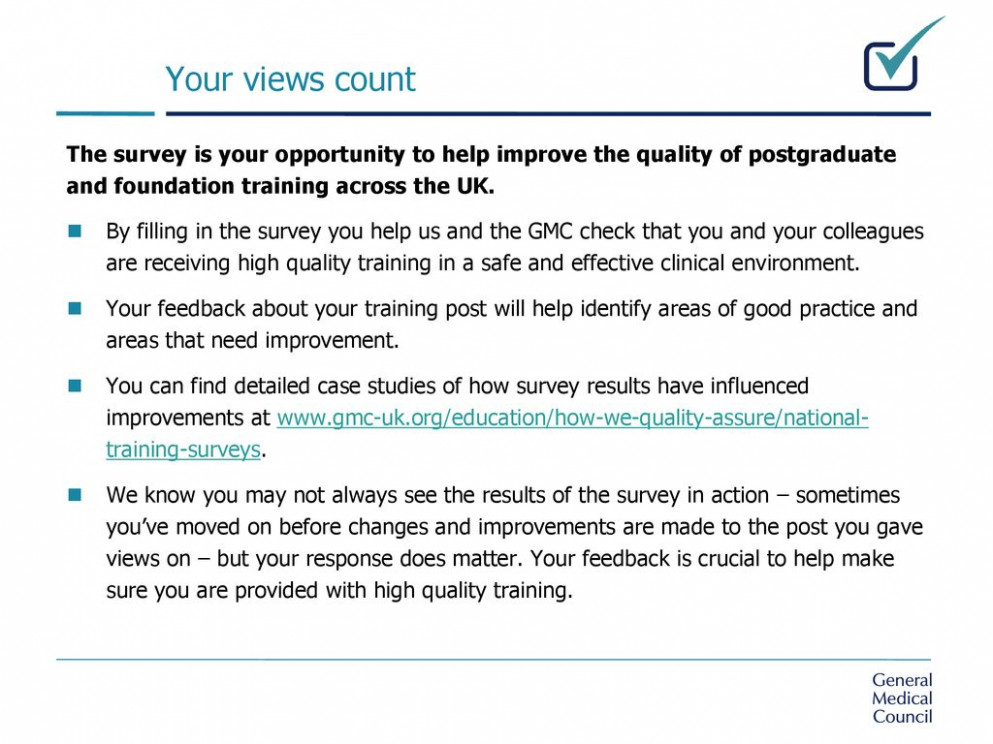 ppt download - gmc national training survey 2020