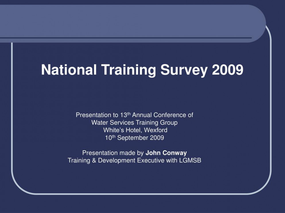 PPT - National Training Survey 10 PowerPoint Presentation, free ...