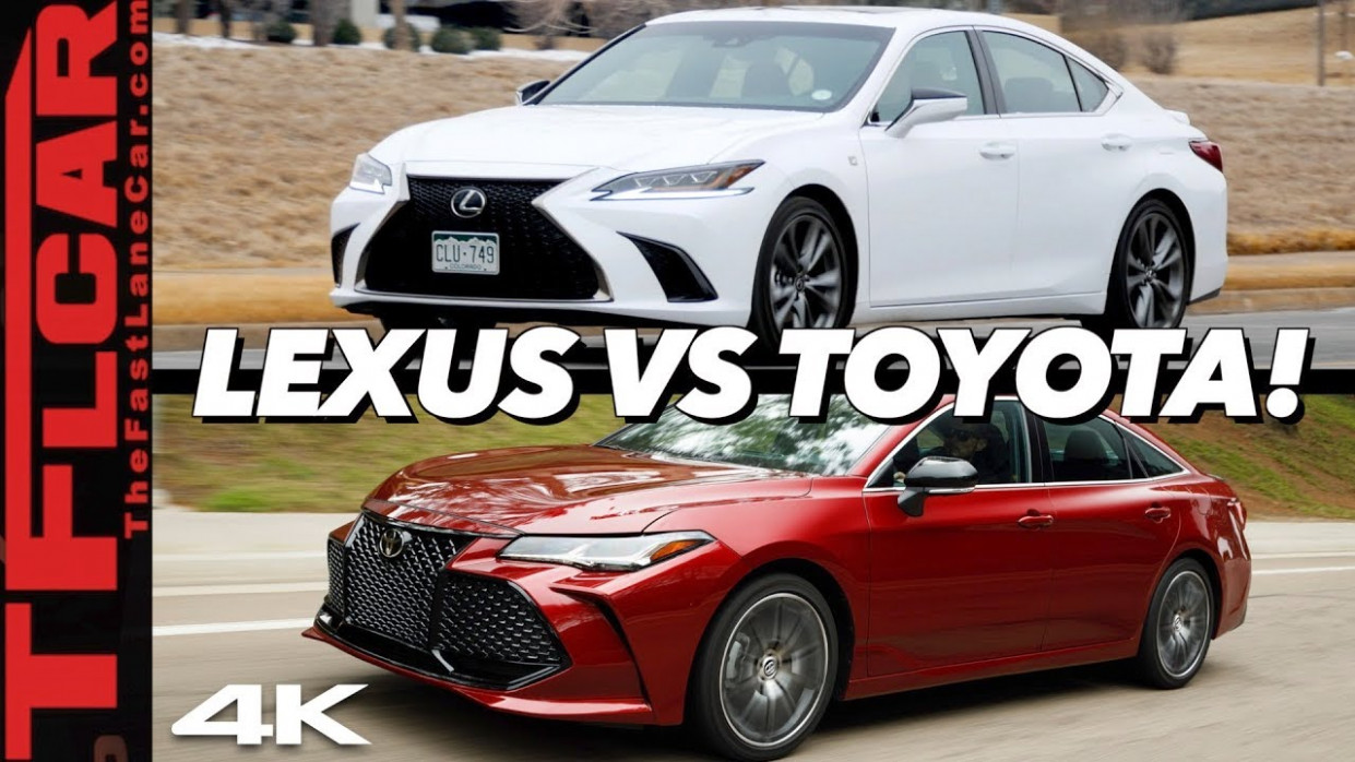 This Is Why The 7 Lexus ES Costs $7,7 More Than A Toyota Avalon - lexus vs avalon 2020