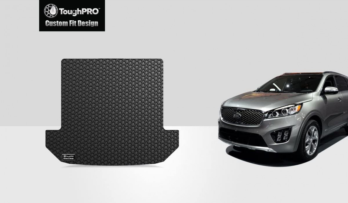 TOUGHPRO Cargo/Trunk Mat Accessories Compatible with Kia Sorento (11 Seater)  - All Weather - Heavy Duty - (Made in USA) - Black Rubber - 11, 20111, ...