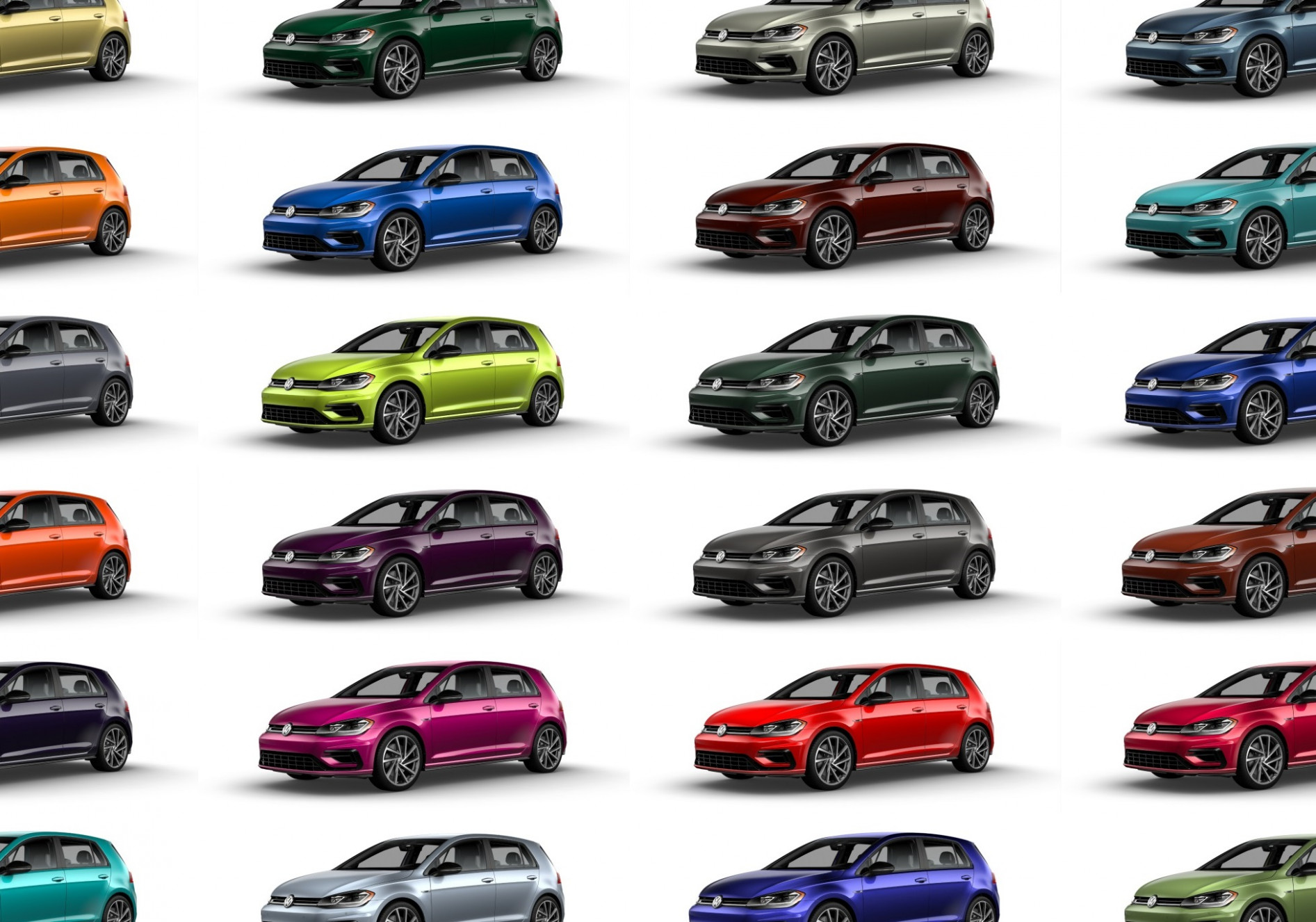 Volkswagen: 8 custom colors available for 8 Golf R; shops can ...