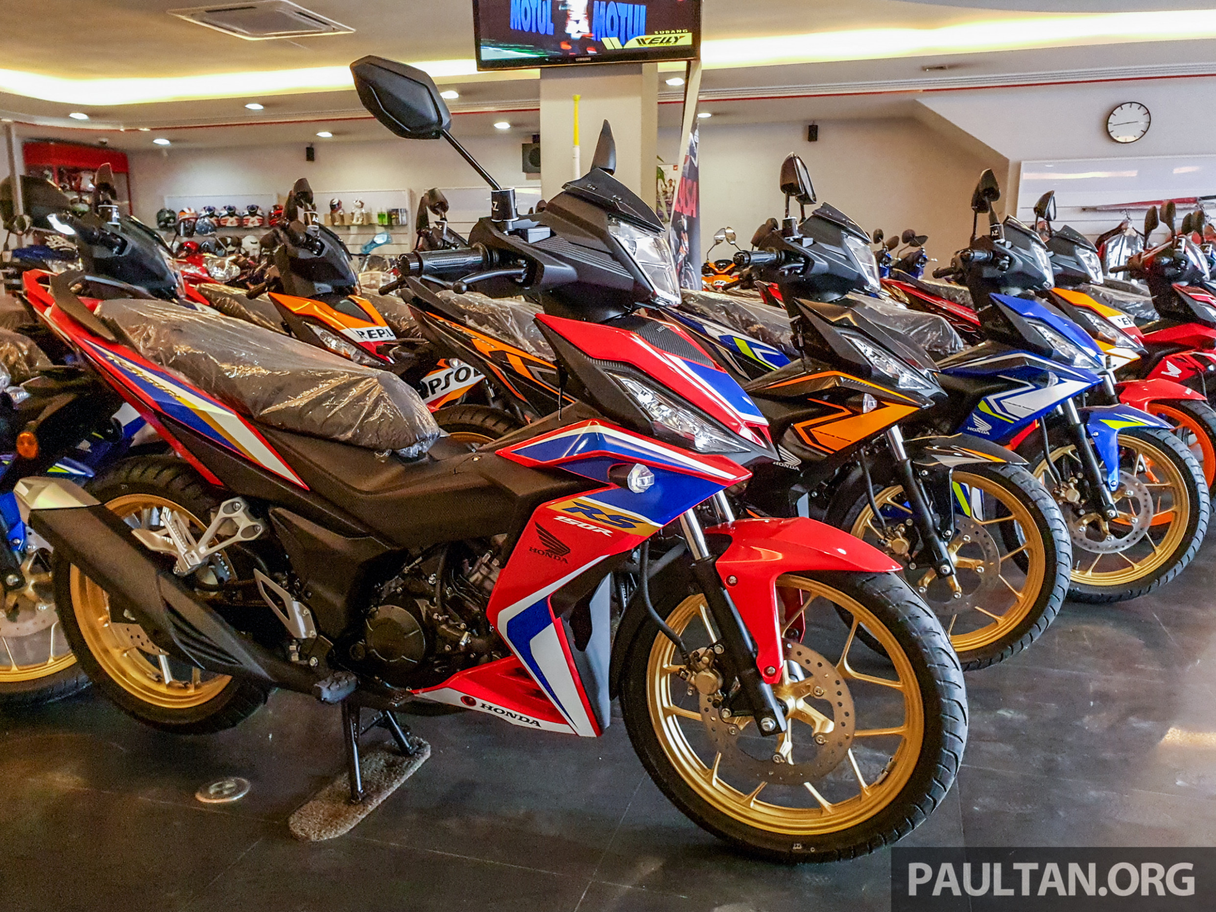 6 Honda RS6R V6 spotted in Malaysian dealer, five new colours ...
