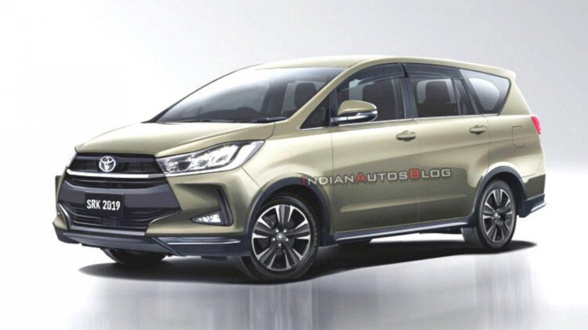 6 Toyota Innova Crysta Facelift Rendered With Stylish Exterior - toyota innova 2020