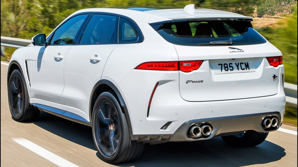 6 White Jaguar F-Pace SVR - Practical Performance SUV