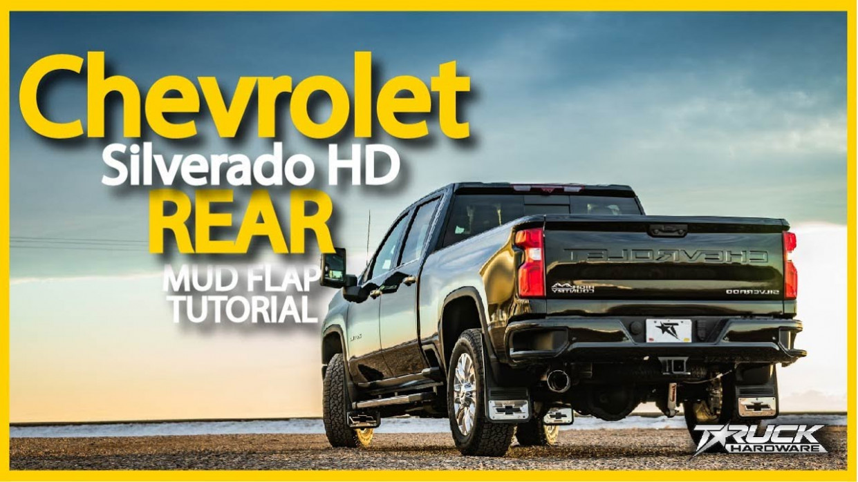 7 Chevrolet Silverado HD Gatorback CR Rear Mud Flap Installation - 2020 gmc mud flaps