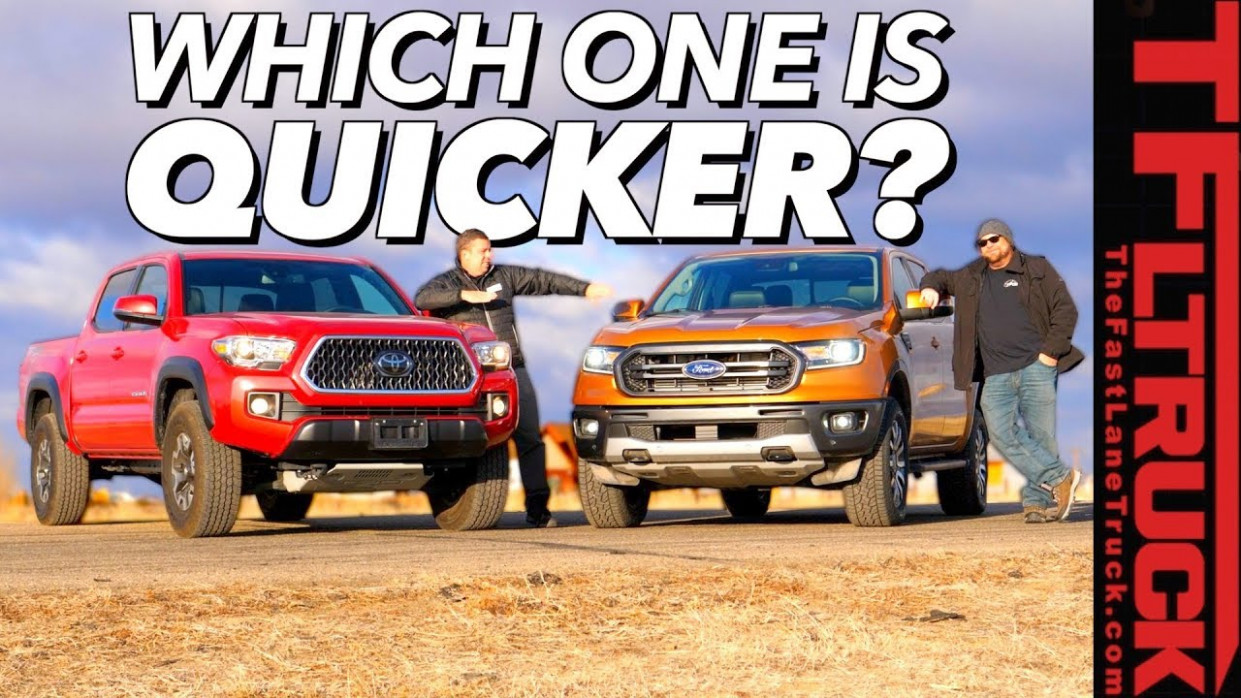 7 Ford Ranger 7-67 MPH and Toyota Tacoma Drag Race (Video ..