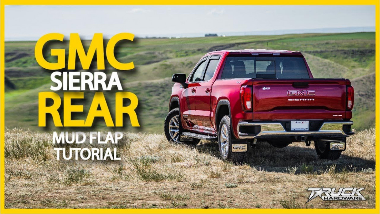 7 GMC Sierra Rear Gatorback CR Mud Flap Installation - 2020 gmc mud flaps