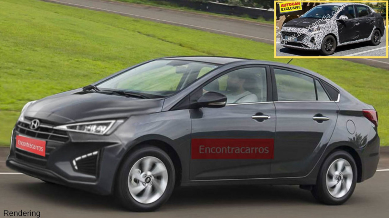 7 Hyundai Xcent Spied Testing For The First Time, Launch Next Year - hyundai xcent 2020