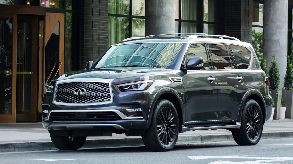 7 INFINITI QX7 - Around View® Monitor with Moving Object Detection - 2020 infiniti qx80 youtube