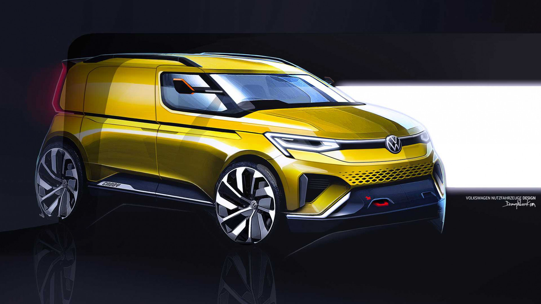 7 Volkswagen Caddy Previewed by Sporty Design Sketches ...
