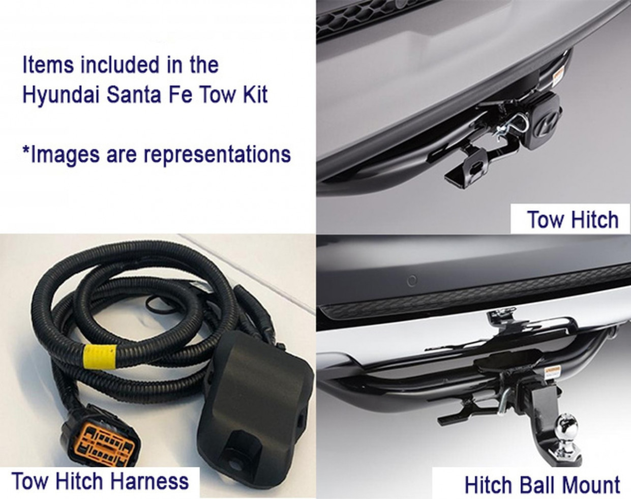 8-8 Hyundai Santa Fe Towing Accessories Kit (I8)