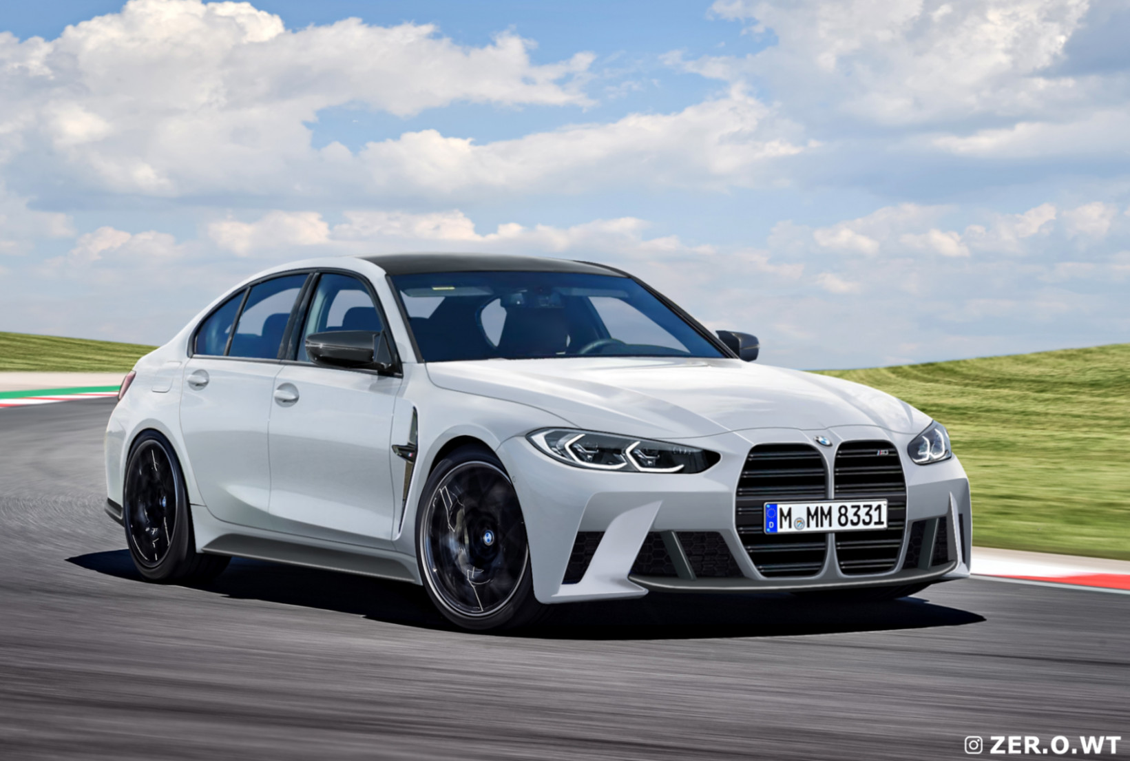 8 BMW M8 Sedan: New render show the front and rear of the G8 - bmw m3 2020