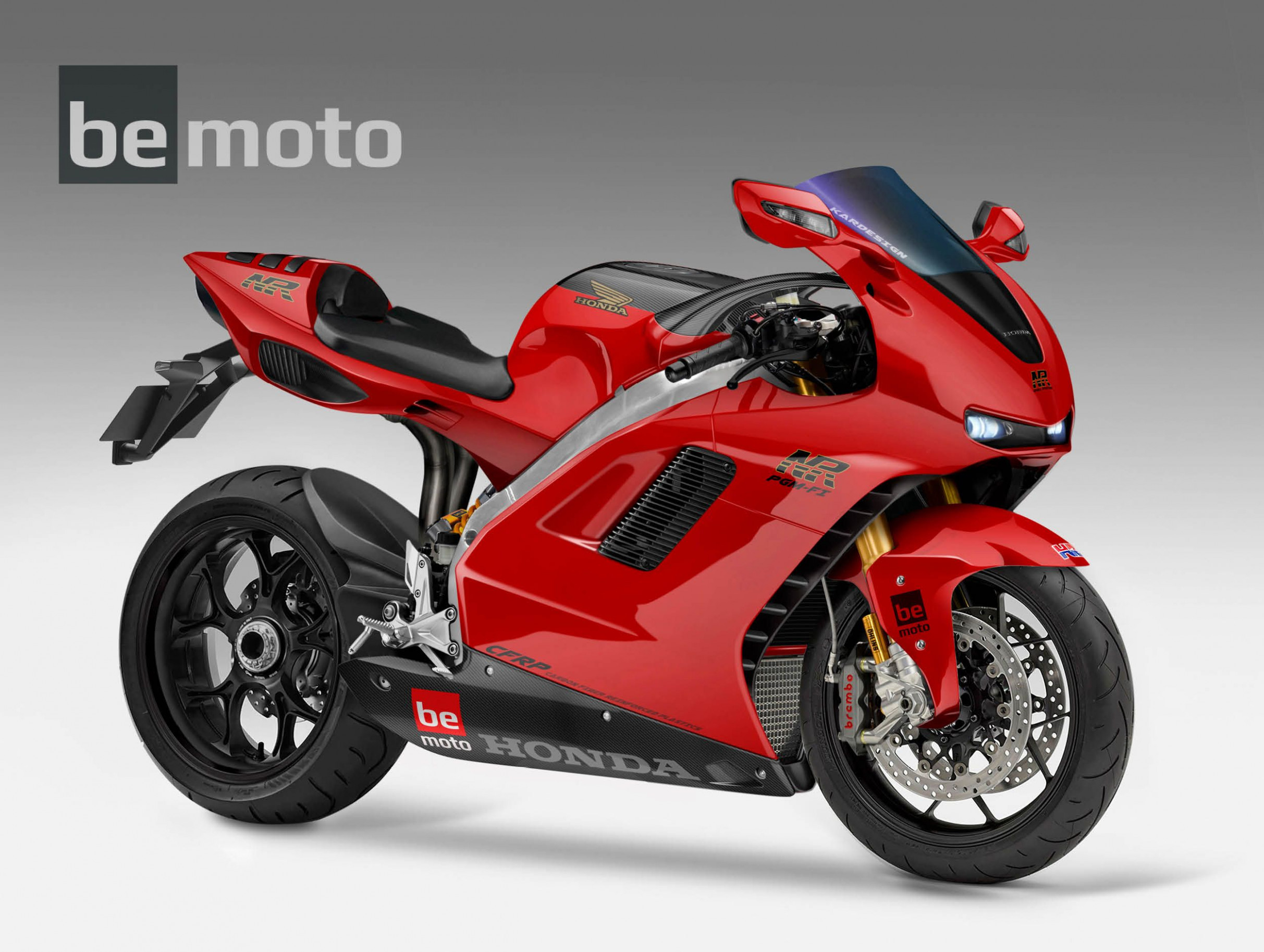 8 Honda NR8 V8 Oval Piston concept bike | BeMoto