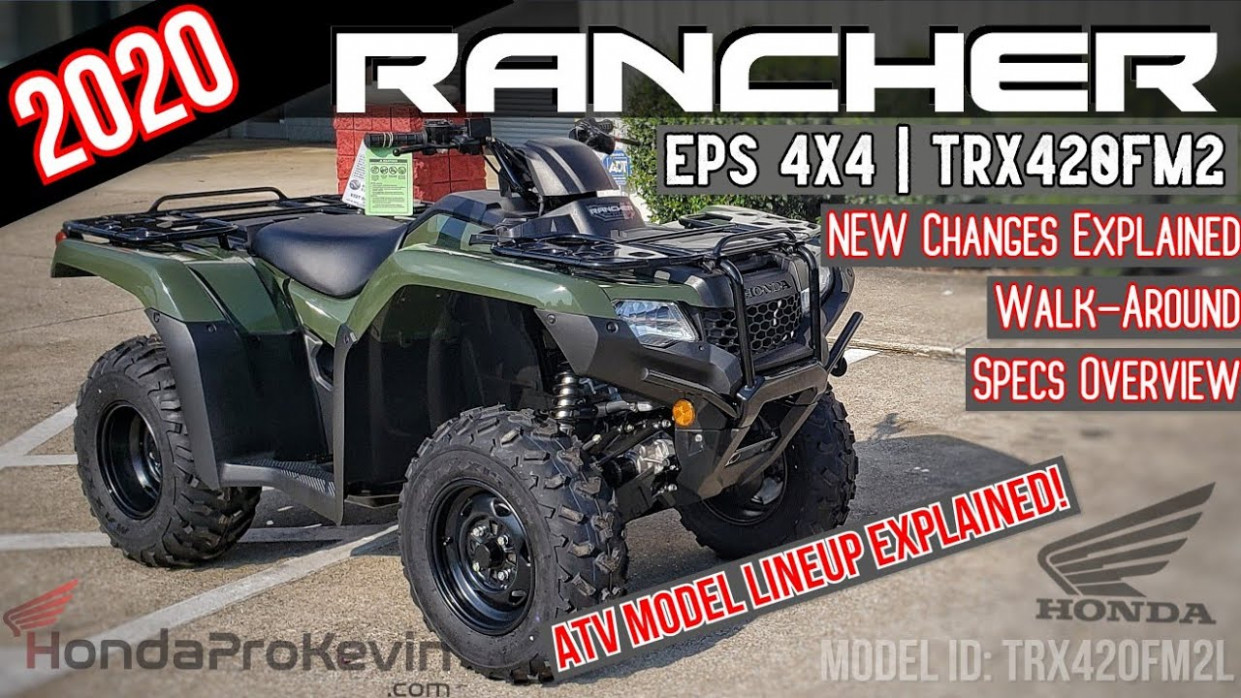 8 Honda Rancher 8 EPS 8x8 ATV Review of Specs + NEW Changes Explained!  | TRX8FM8 Olive