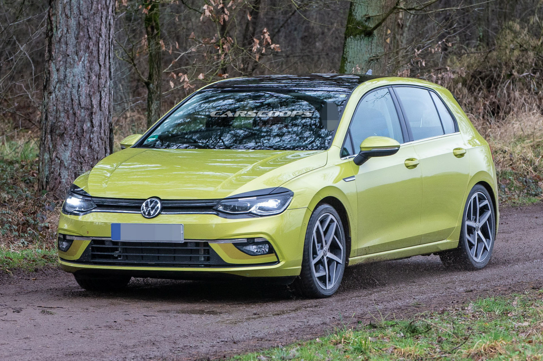 8 Volkswagen Golf Mk8 Photographed Virtually Undisguised From ..