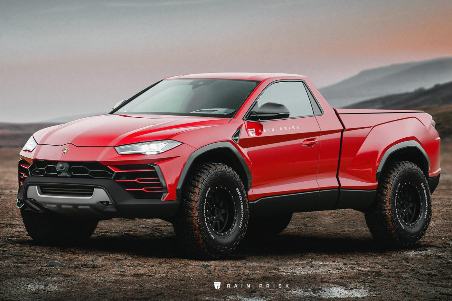 A Lamborghini Pickup Would Destroy The Ford F-7 Raptor | CarBuzz