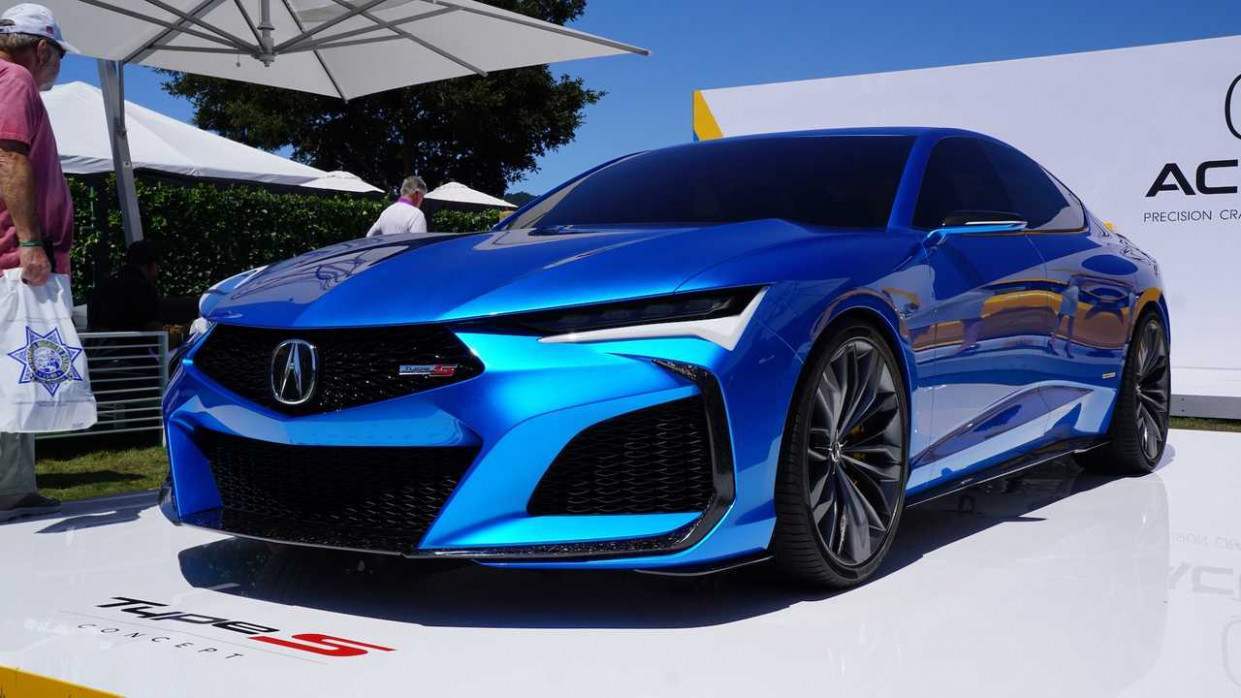 Acura Type S Concept, NSX Indy Yellow Pearl Dazzle At Pebble Beach - acura coupe 2020