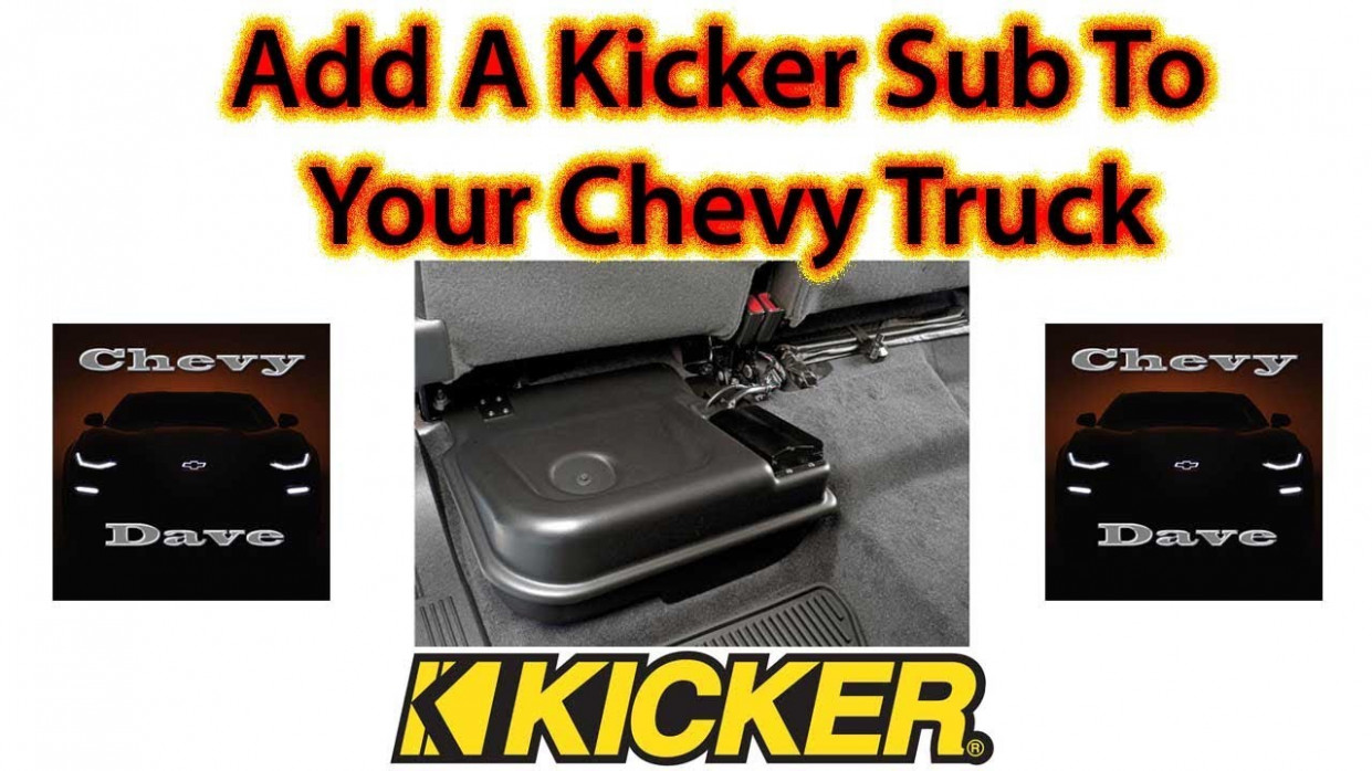 Add a Kicker Sub to your Factory Chevrolet Truck - 2020 gmc kicker subwoofer