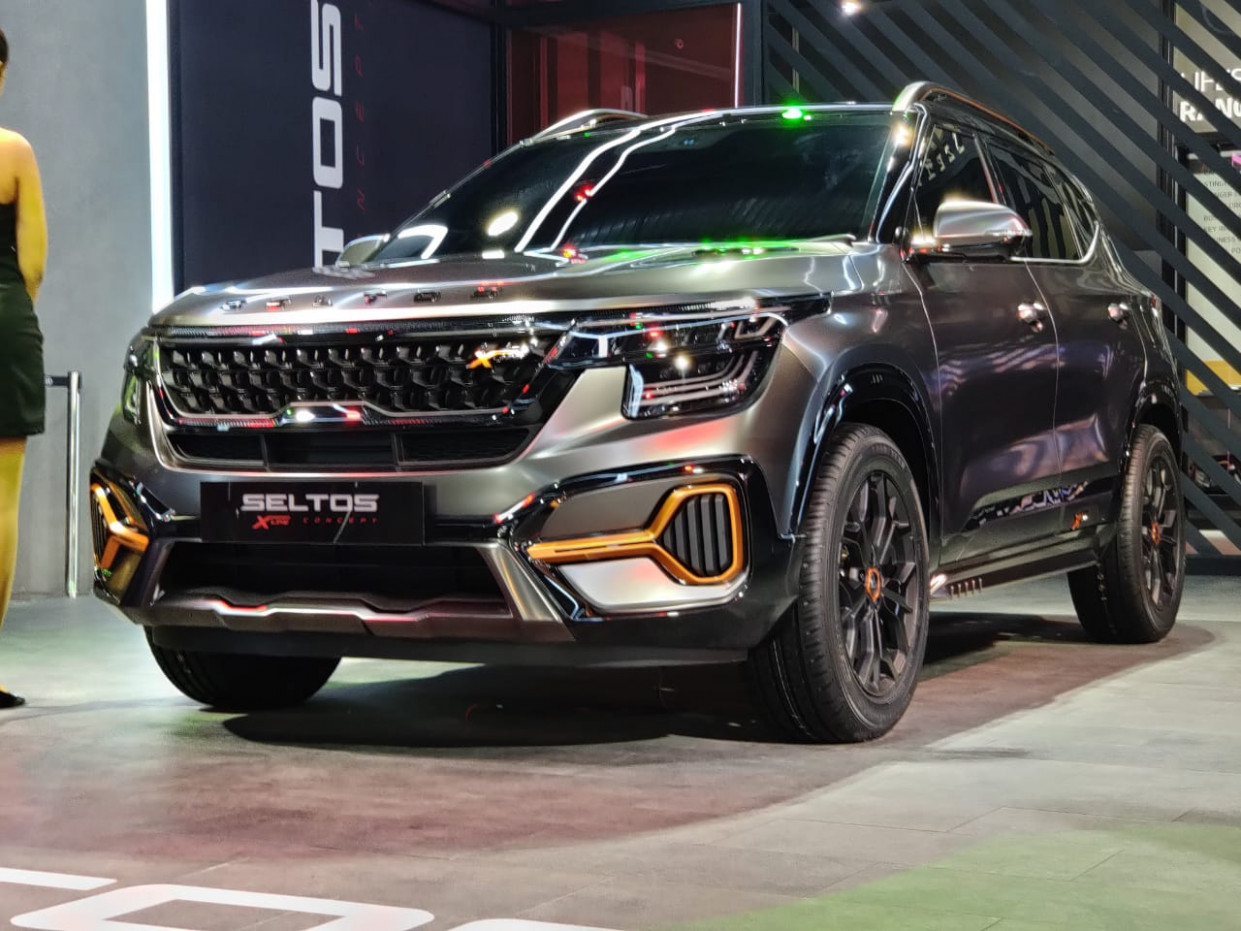 Auto Expo 8: India-spec Kia Seltos X-Line Concept Showcased - kia x line 2020