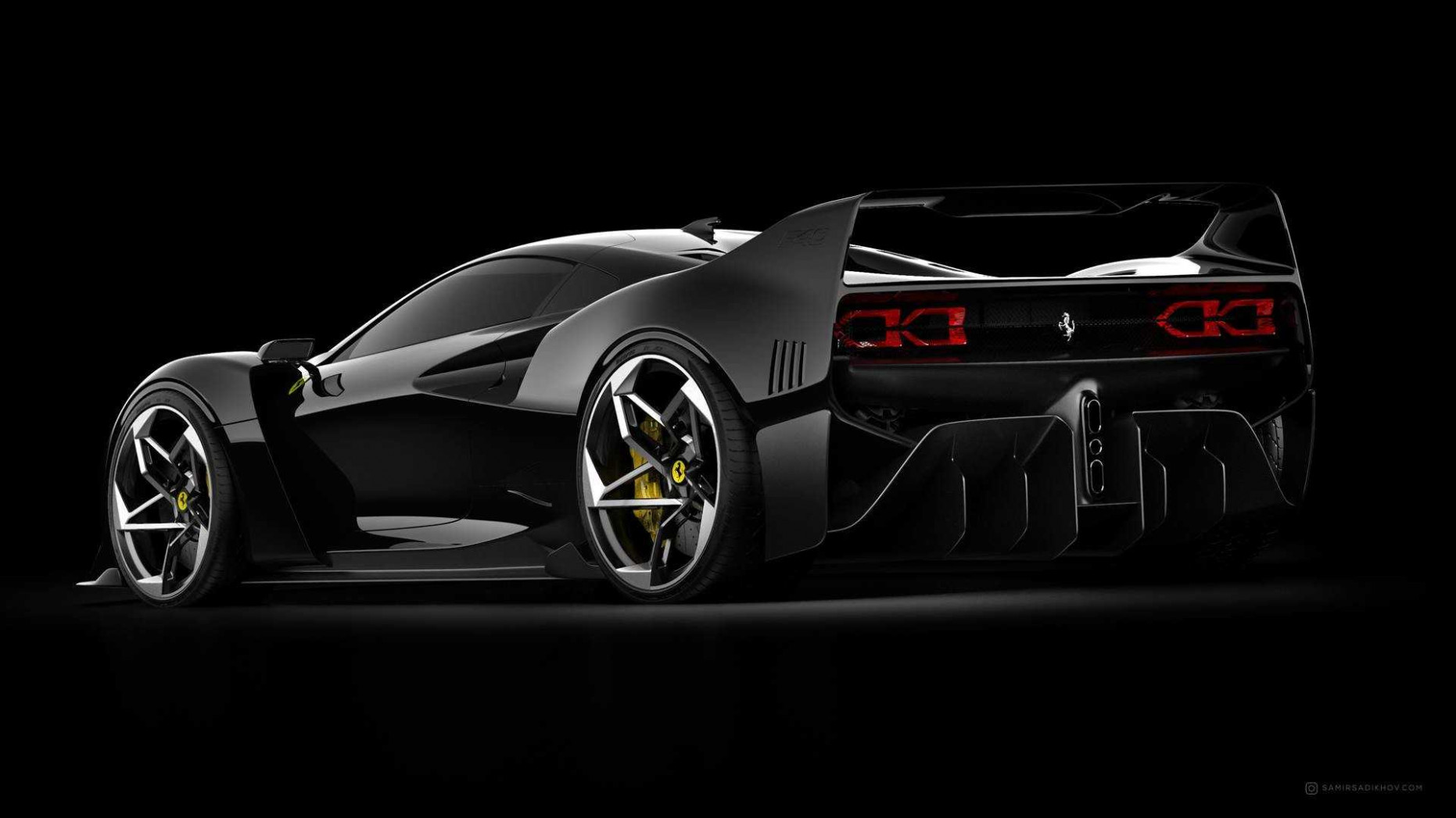 Ferrari F6 Tribute Is Stunning From All Angles