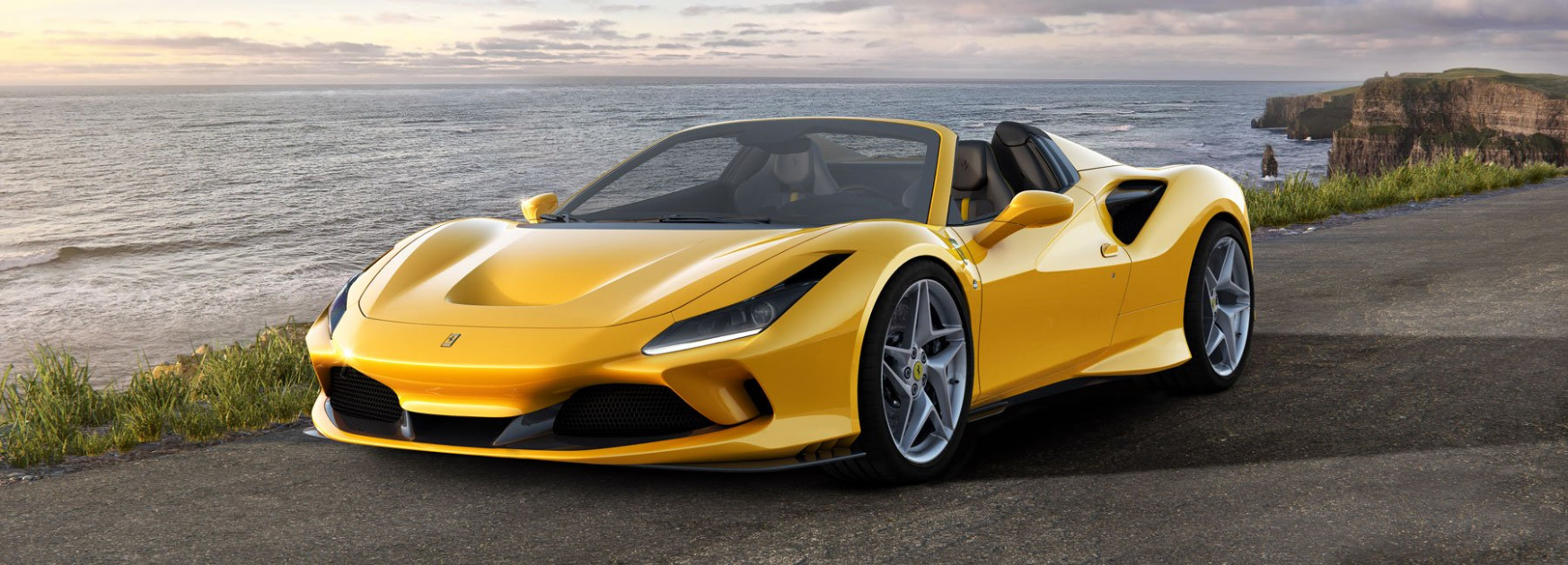 ferrari reveals 6 f6 spider with more power and less weight