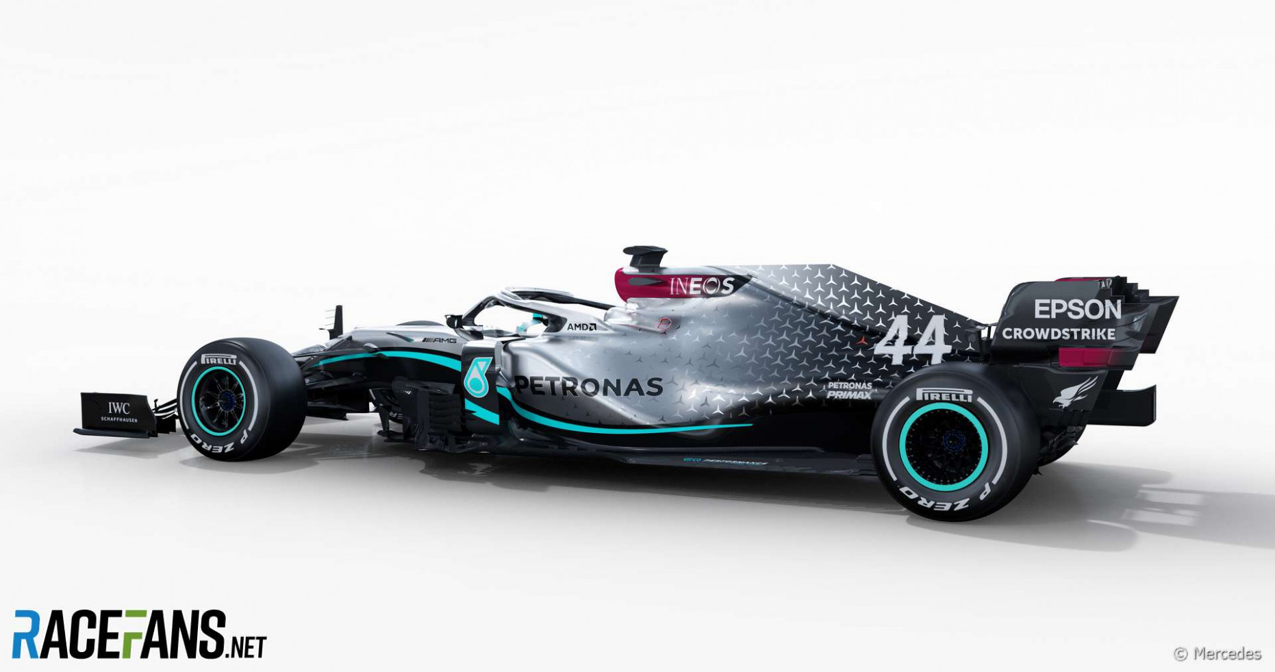 First pictures: Mercedes reveals its new F8 car for 8 · RaceFans - mercedes f1 2020 livery