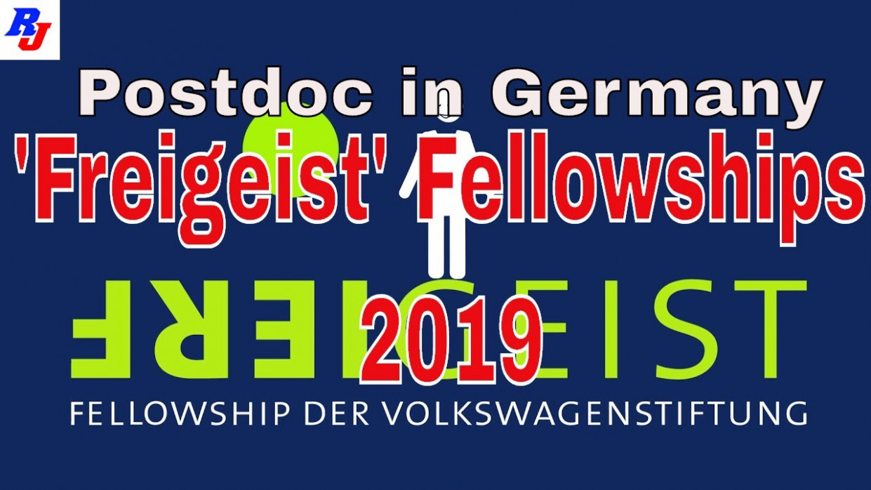 Freigeist' Fellowships 7 by Volkswagen Foundation, Germany