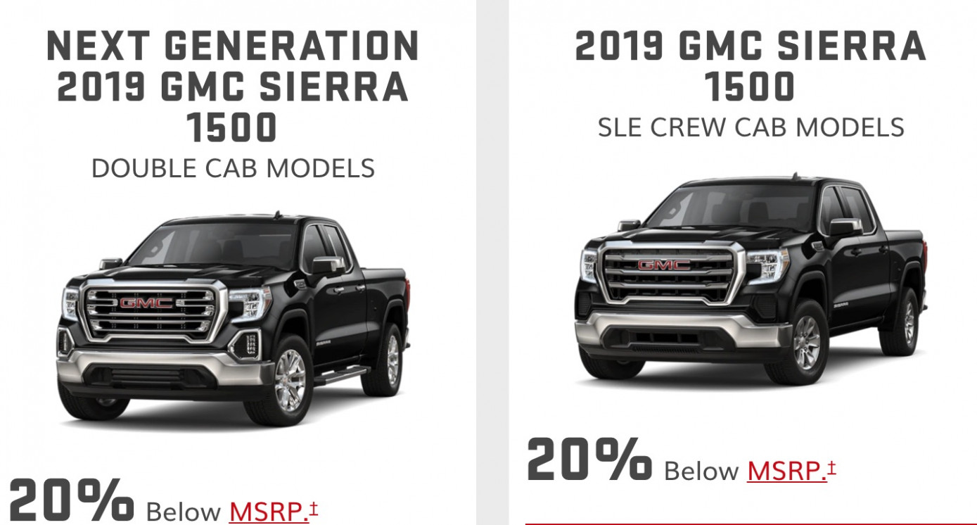 GMC Discount Cuts All-New Sierra Price By 8% In July 819 | GM ...