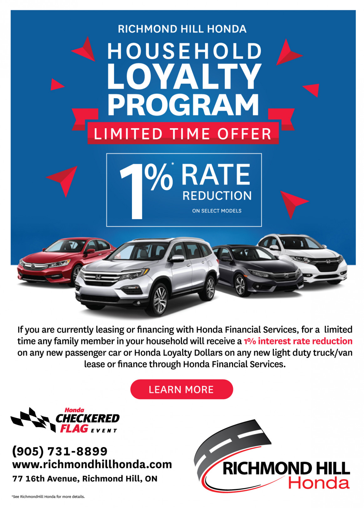 Household Loyalty Program - Richmond Hill Honda