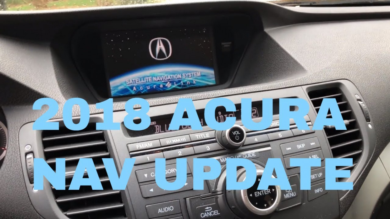 How To Update Your Acura Navigation to 7 Maps: On an Acura TSX - acura navigation update 2020