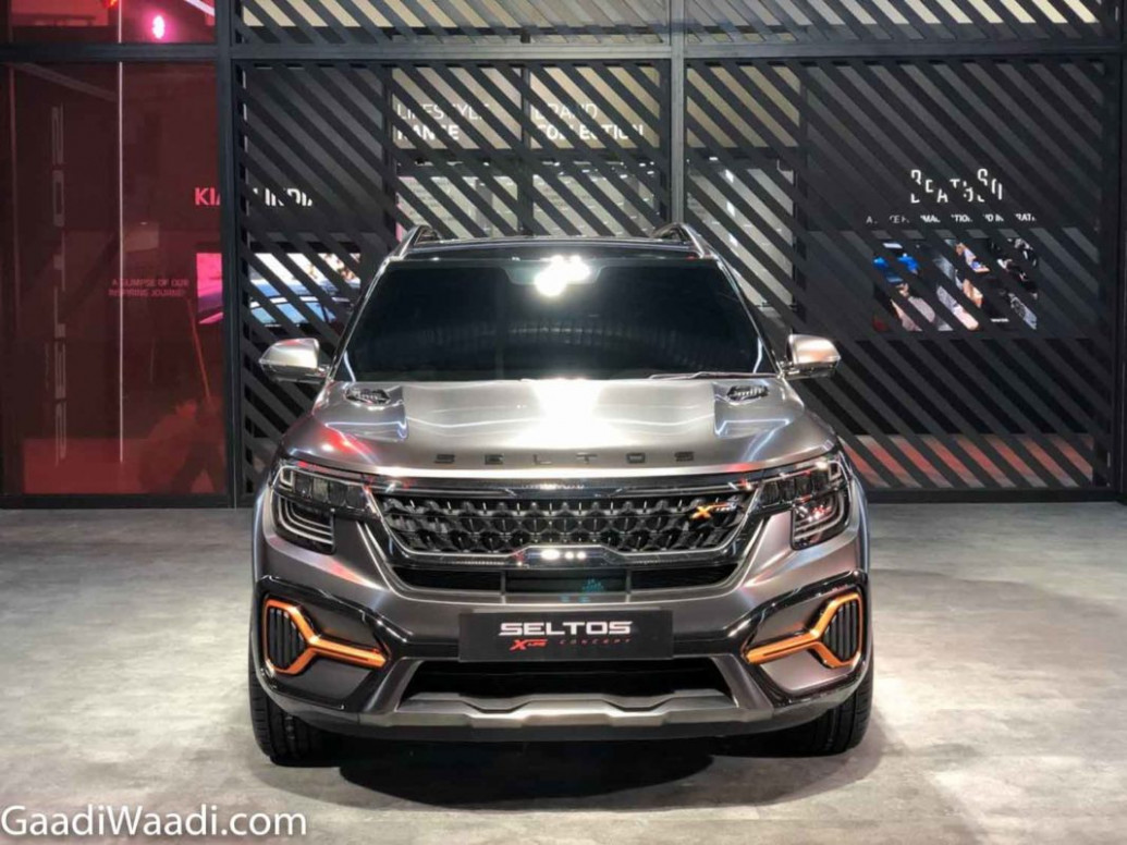 India-Specific Kia Seltos X-Line Concept Appears At Auto Expo - kia x line 2020