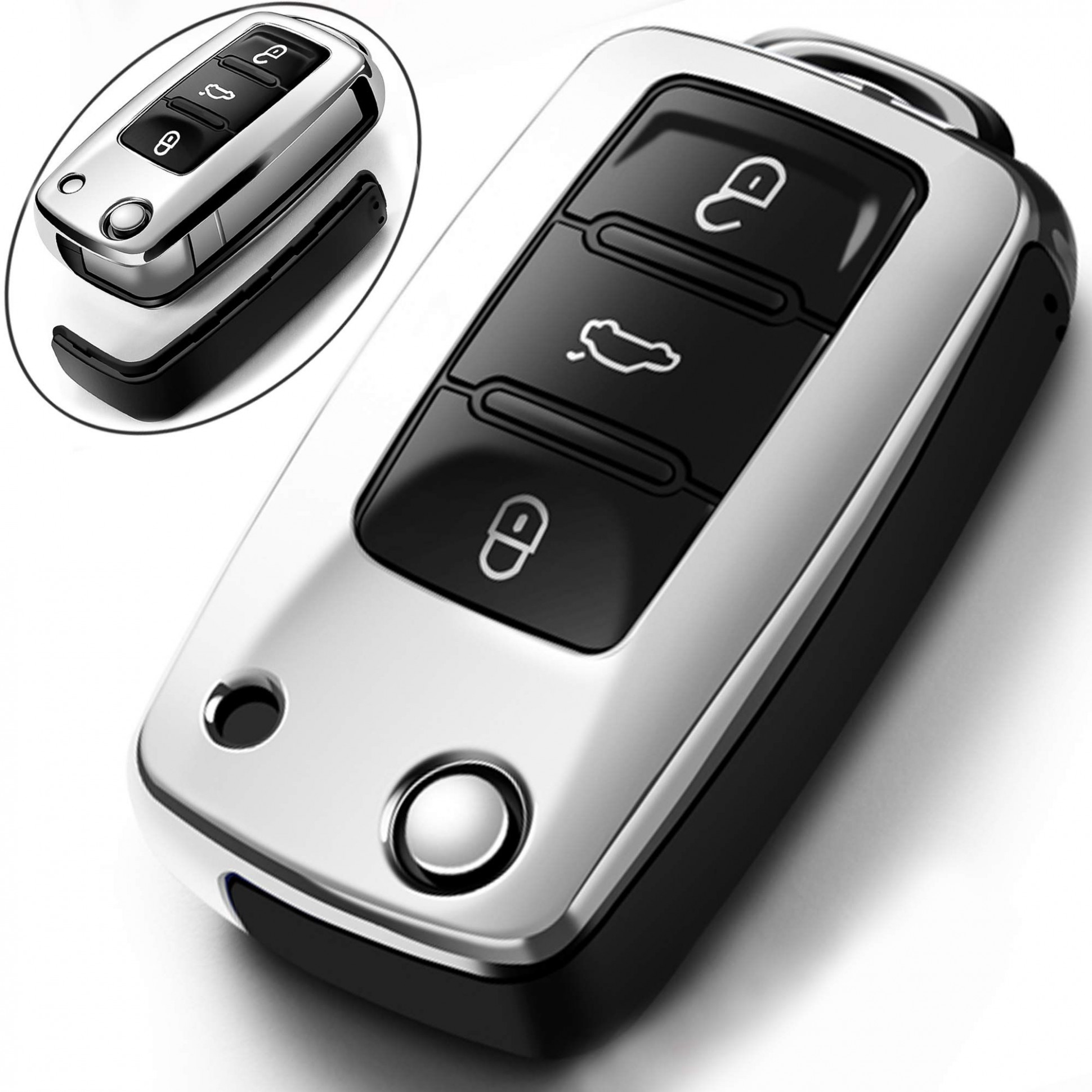 Intermerge for VW Volkswagen Key Fob Cover for VW jetta POLO ...