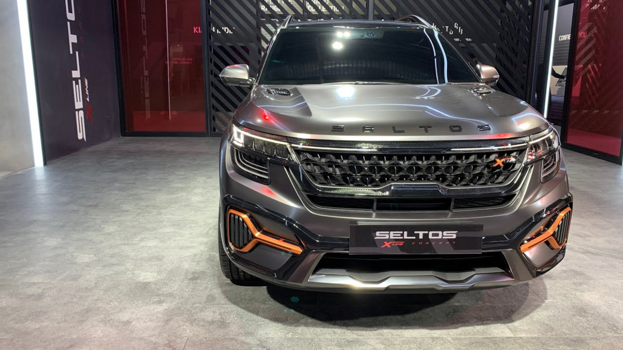 Kia Seltos X-Line Special Edition Showcased | Auto Expo 8 - kia x line 2020