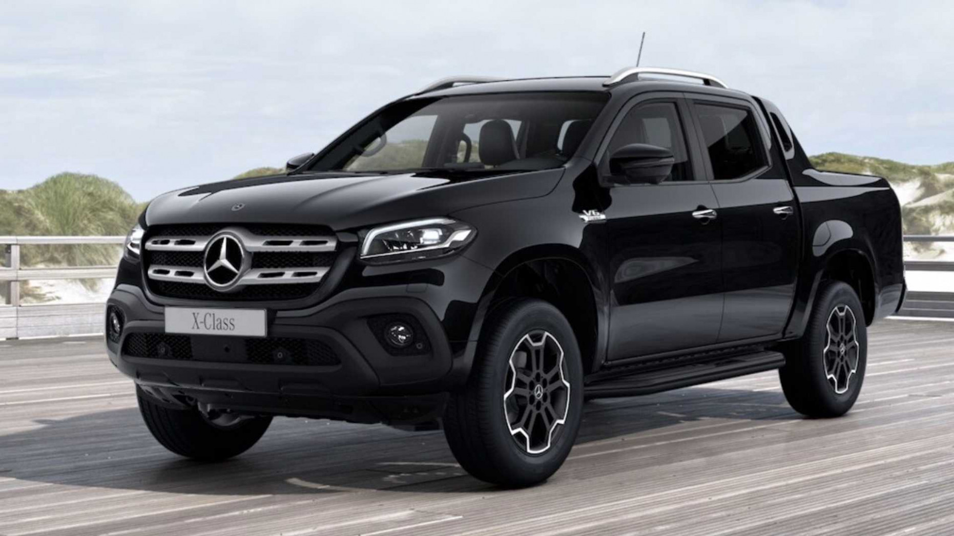 Mercedes X-Class Goes Dark With Black Package - mercedes x class 2020 review