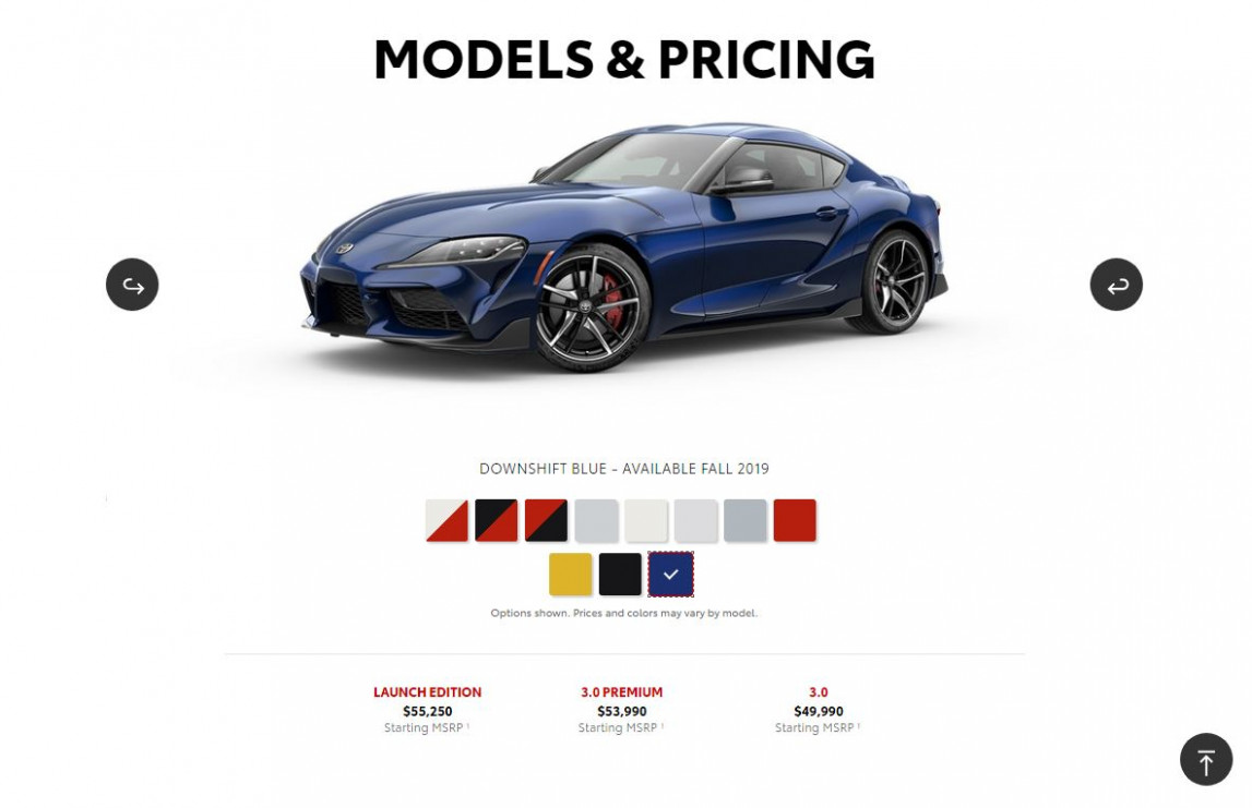 New 6 Toyota Supra Colors Show Up Online - 2020 toyota blue paint