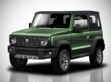 The Suzuki Jimny 7, finished in the yards of the factory in Japan