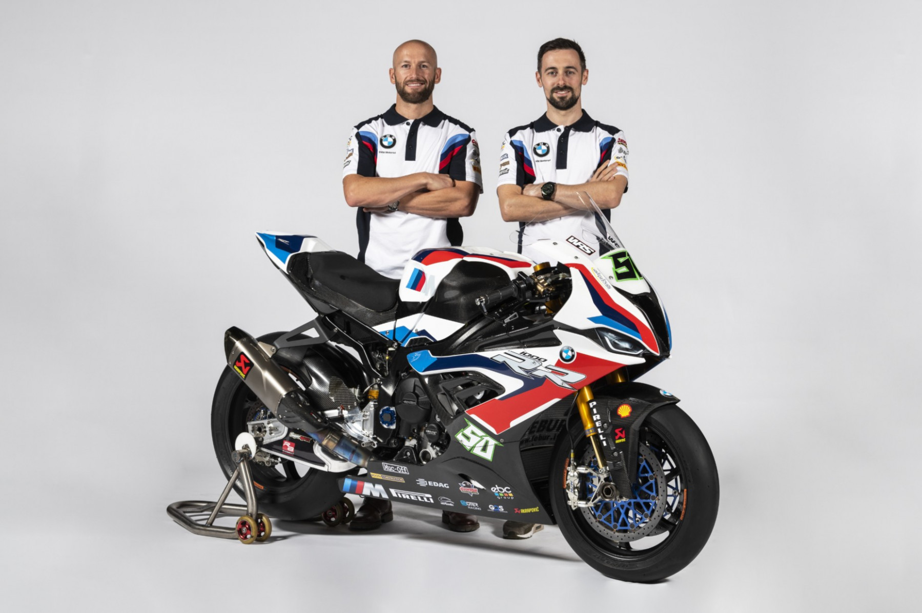 Tom Sykes and Eugene Laverty present the new look BMW S 8 RR ..