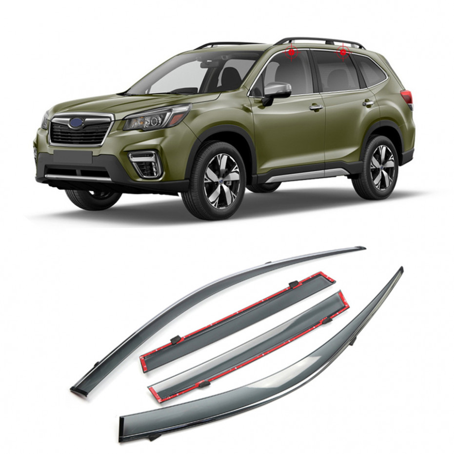 US $7.7 7% OFF|For Subaru Forester SK 7 7 Car Accessories Window  Visor Vent Shade Rain Sun Wind Guard Deflectors with Chrome Trims|Awnings &  ...