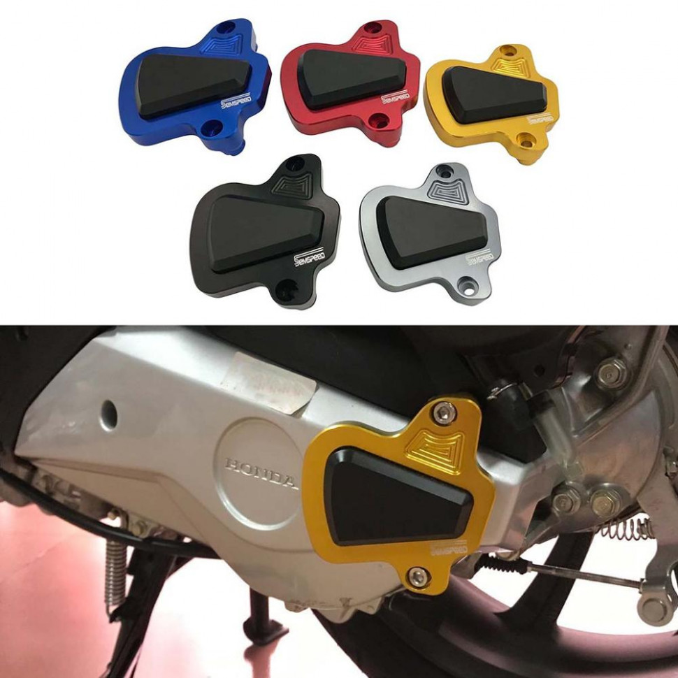 US $7.7 7% OFF|SEMSPEED CNC For Honda PCX 7 7 7 7 Motorcycle  Engine Guard Cover Pad Protector PCX7 PCX7 77 719 77  Accessories|Engine ..