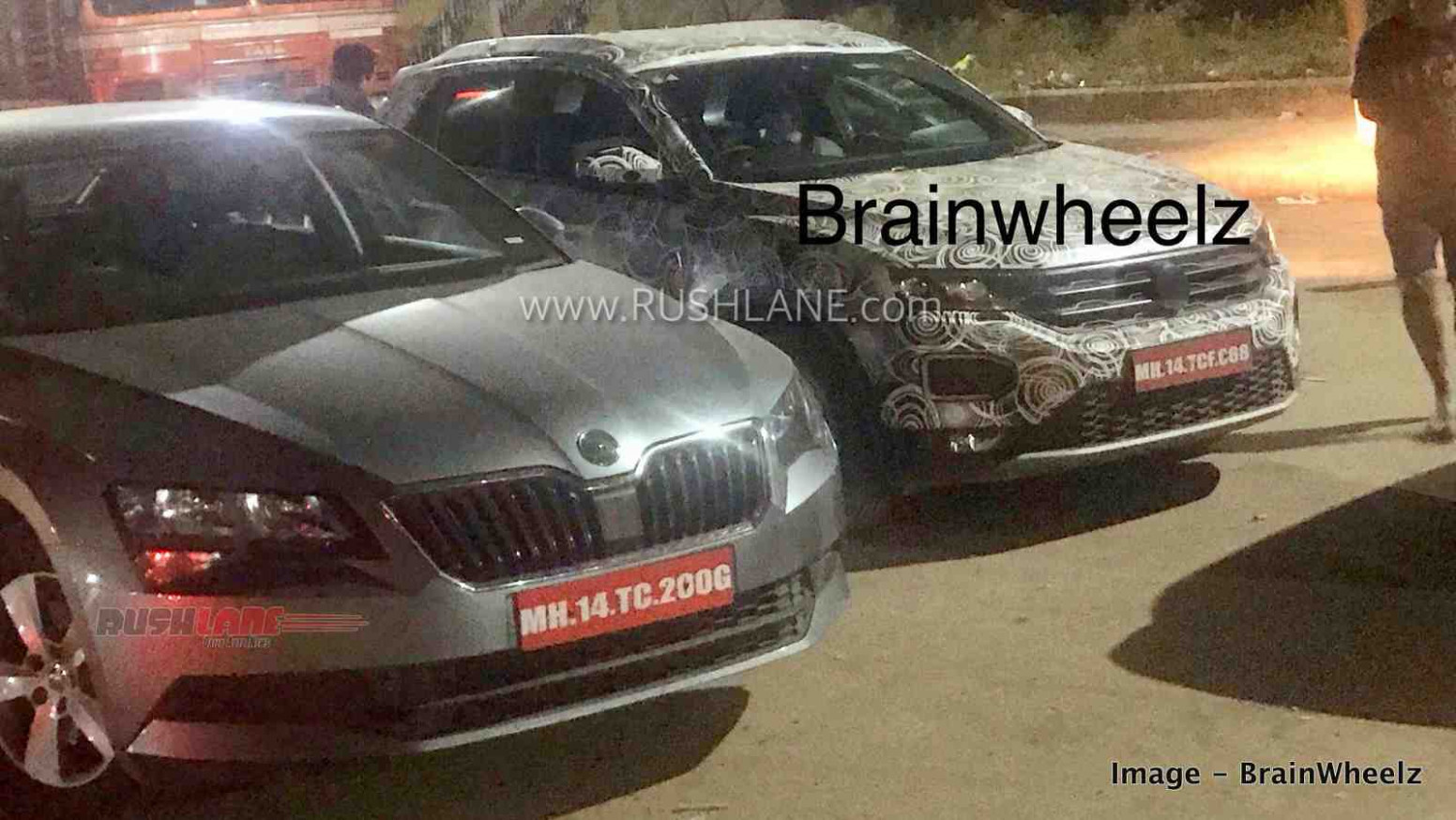 Volkswagen T Roc SUV spied in India along with 8 Skoda Superb