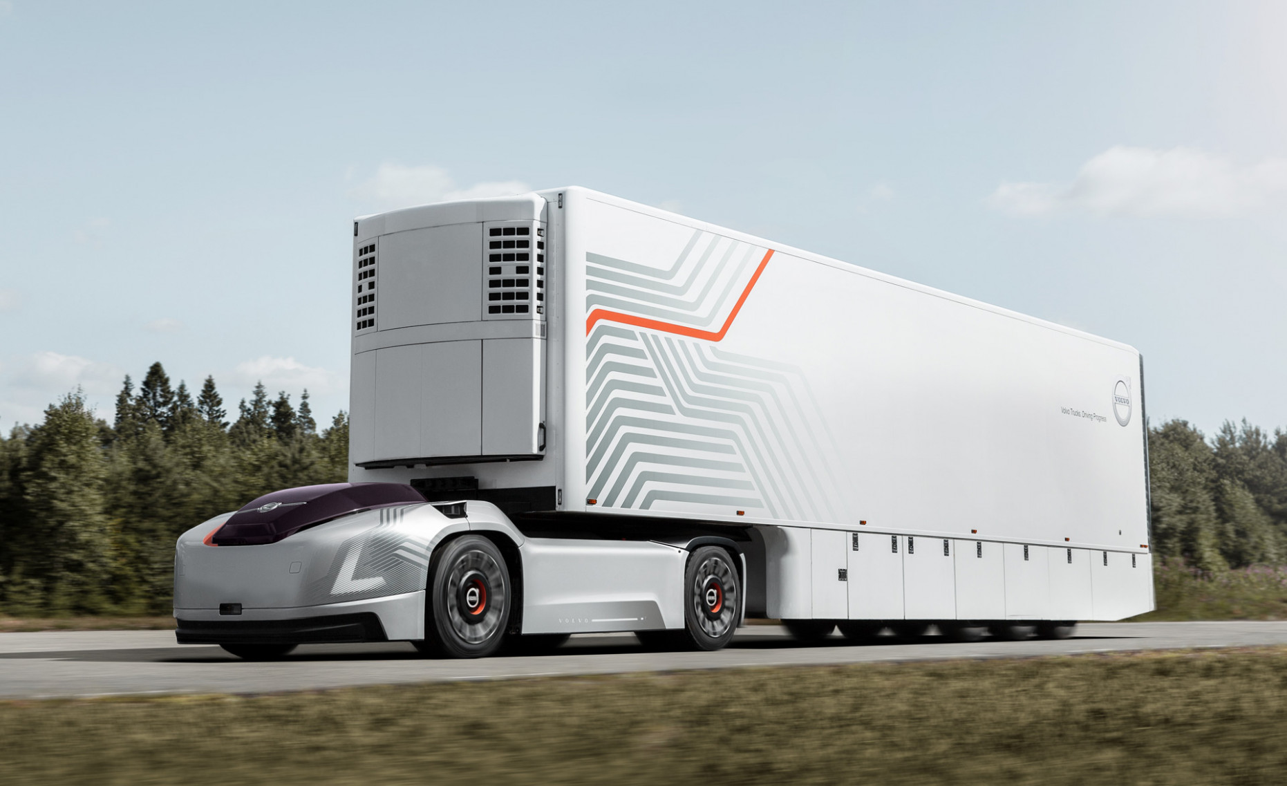 Volvo Trucks reveals Vera self-driving electric semi concept - volvo electric truck 2020